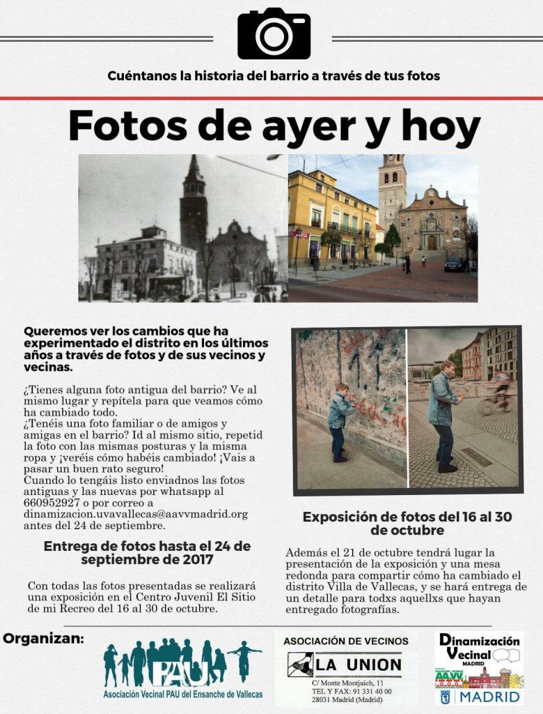 Fotos de ayer y hoy Vallecas Viva
