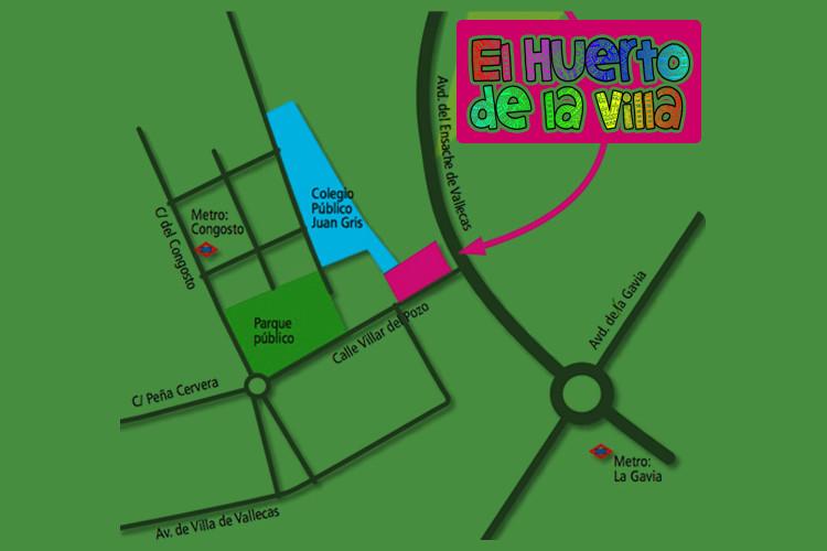 Plano Huerto de la Villa Vallecas