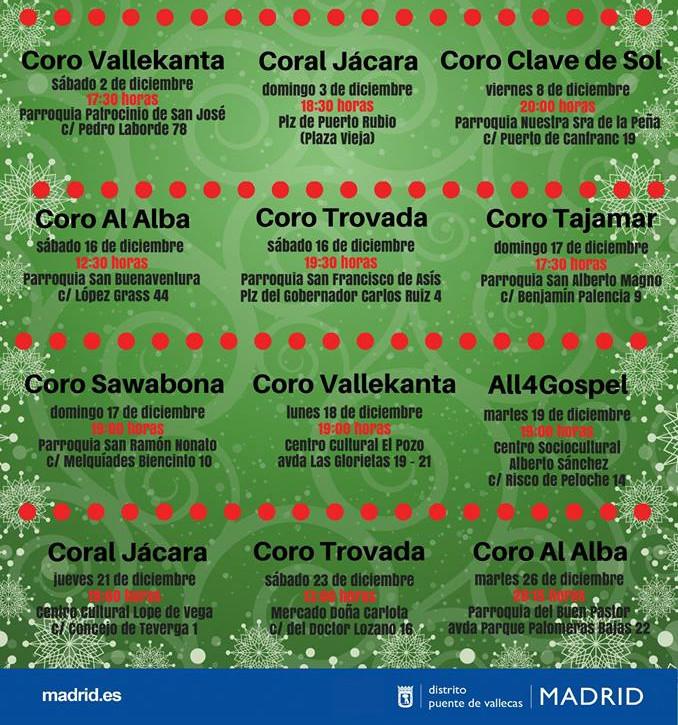 Ciclo Corales Navidad Vallecas 2017