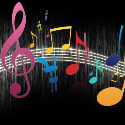 La Musique Moderne Note Le Fond Bleu Images stock - Image ...