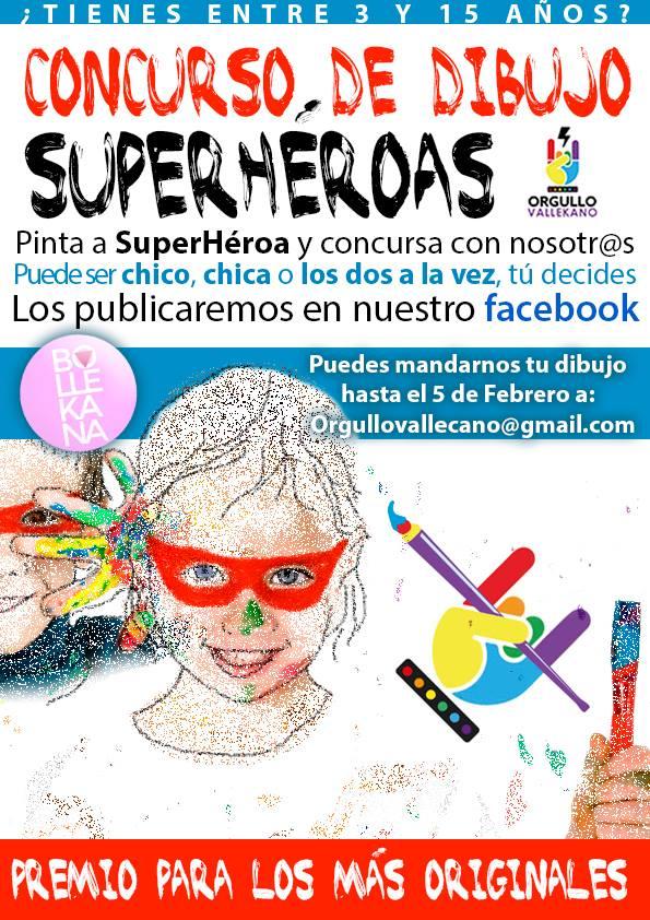 Concurso Dibujos Superhéroas Vallecas Viva