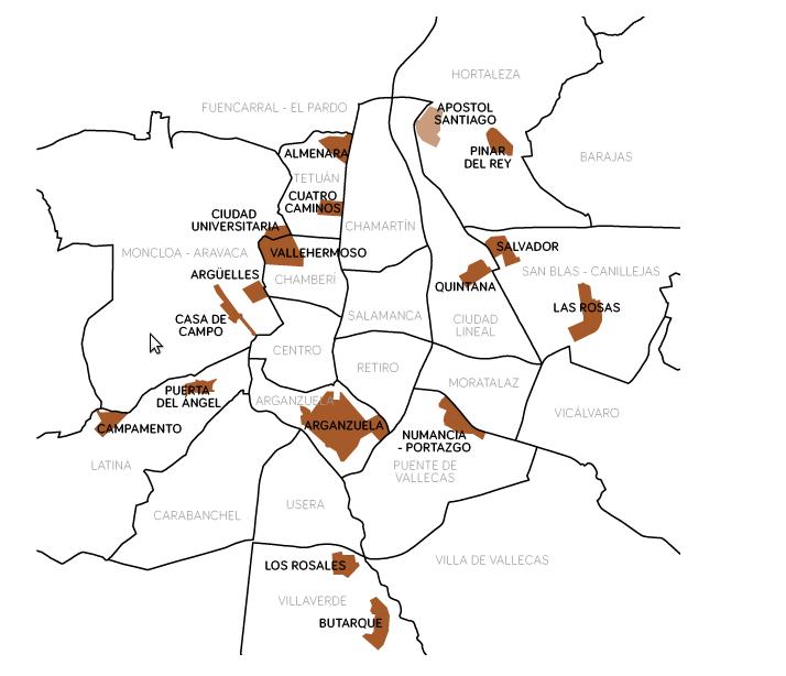 zonas ORGANICA Vallecas