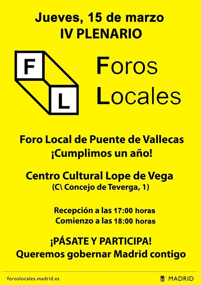 Foros locales Puente de Vallecas