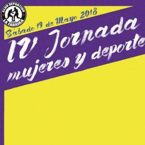 """IV Jornada """"Mujeres y Deporte"""". 19 de Mayo 2018"""