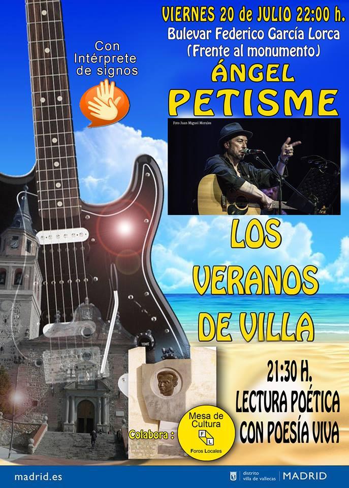 Angel Petisme concierto Vaeranos de la villa de Vallecas