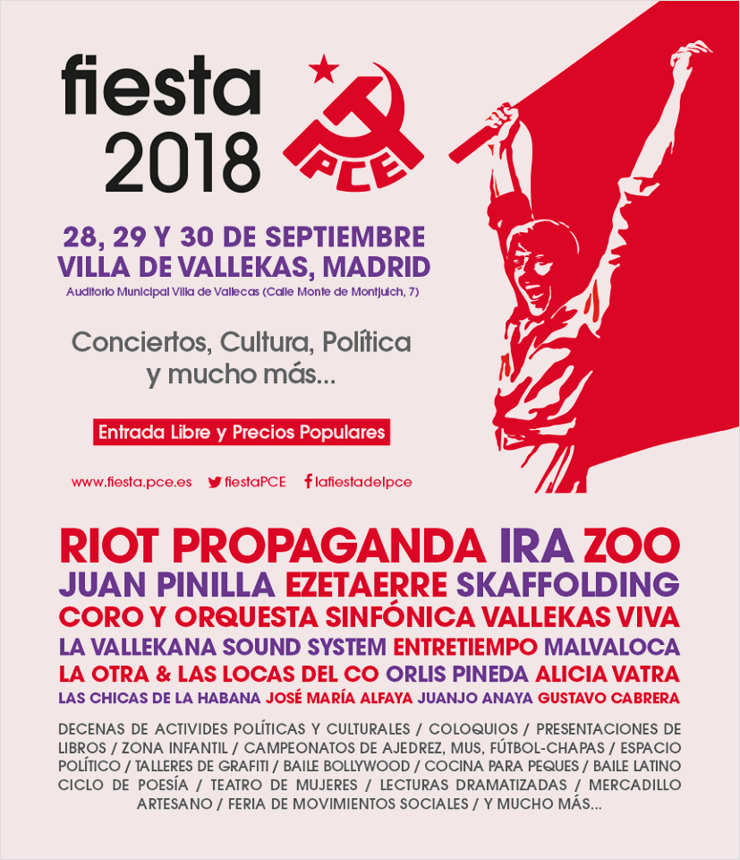 Fiesta PCE 2018 Vallecas