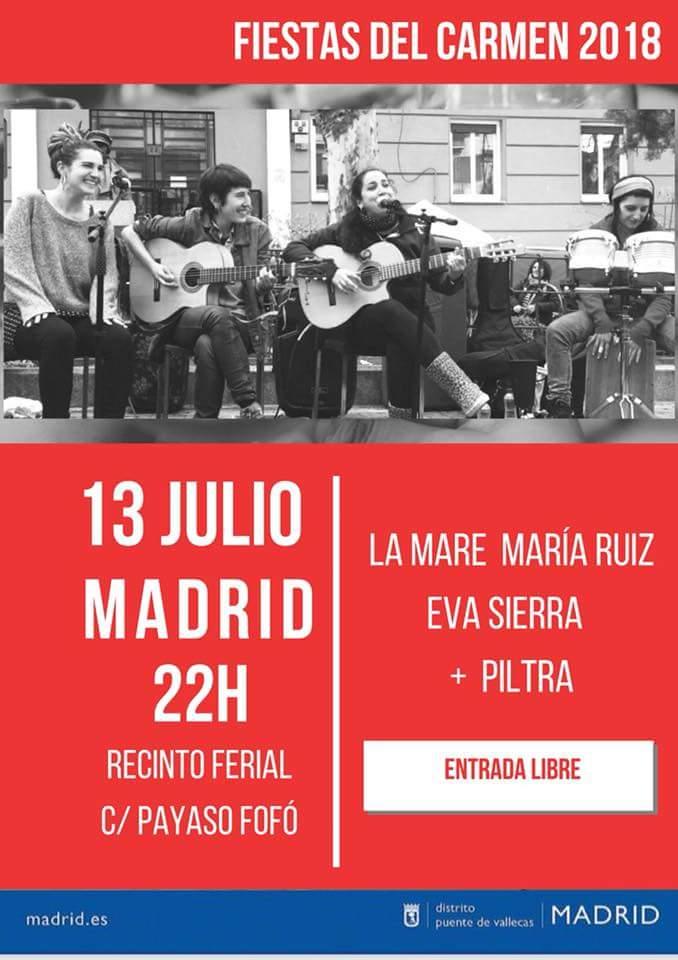 Concierto Eva Sierra, La Mare y María Ruíz  Vallecas