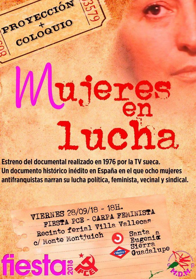 Mujeres en lucha Fiestas PCE 2018 Vallecas