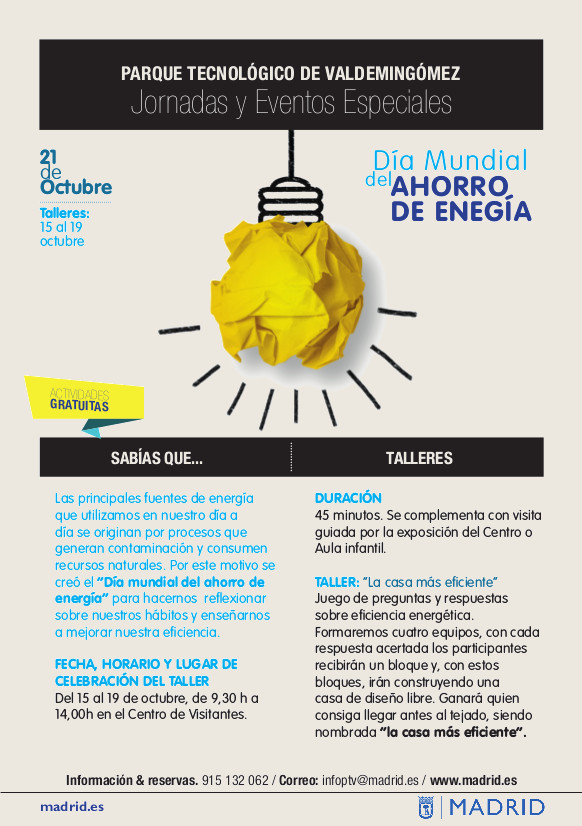 Día Mundial Ahorro Energia Vallecas