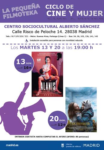 ciclo cine y mujer Vallecas