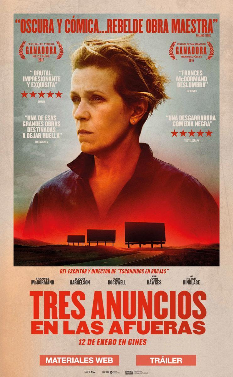 Tres anuncios en las afueras cine Vallecas