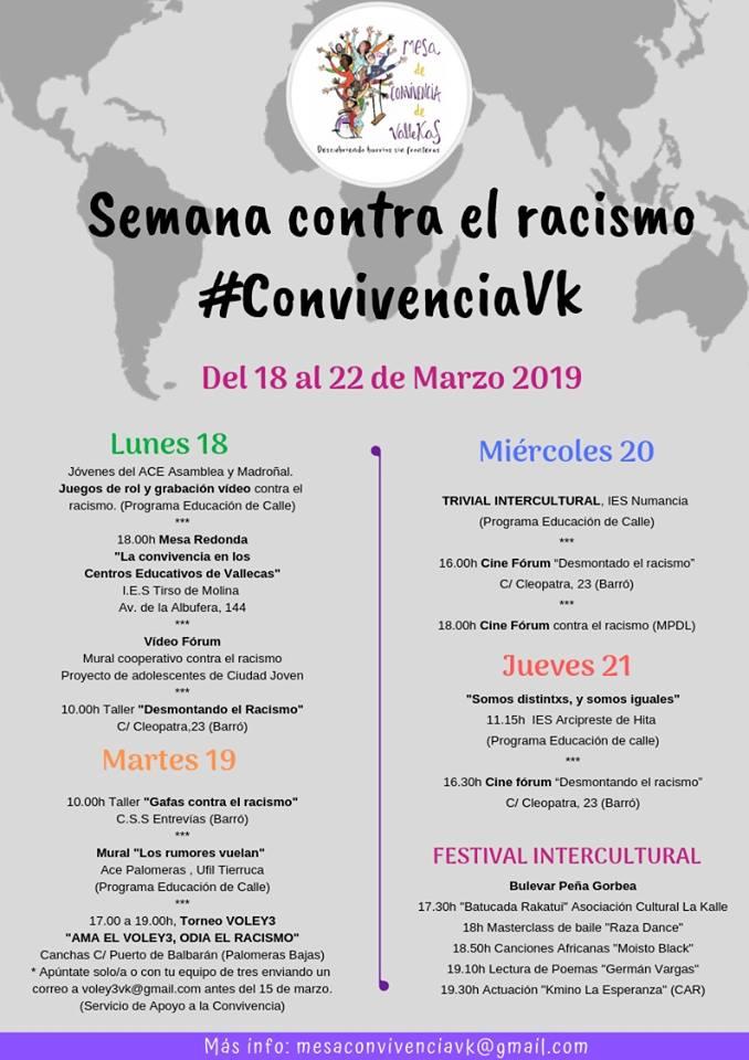 Semana contra el racismo Vallecas