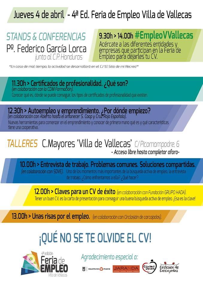 Feria de empleo Villa de Vallecas