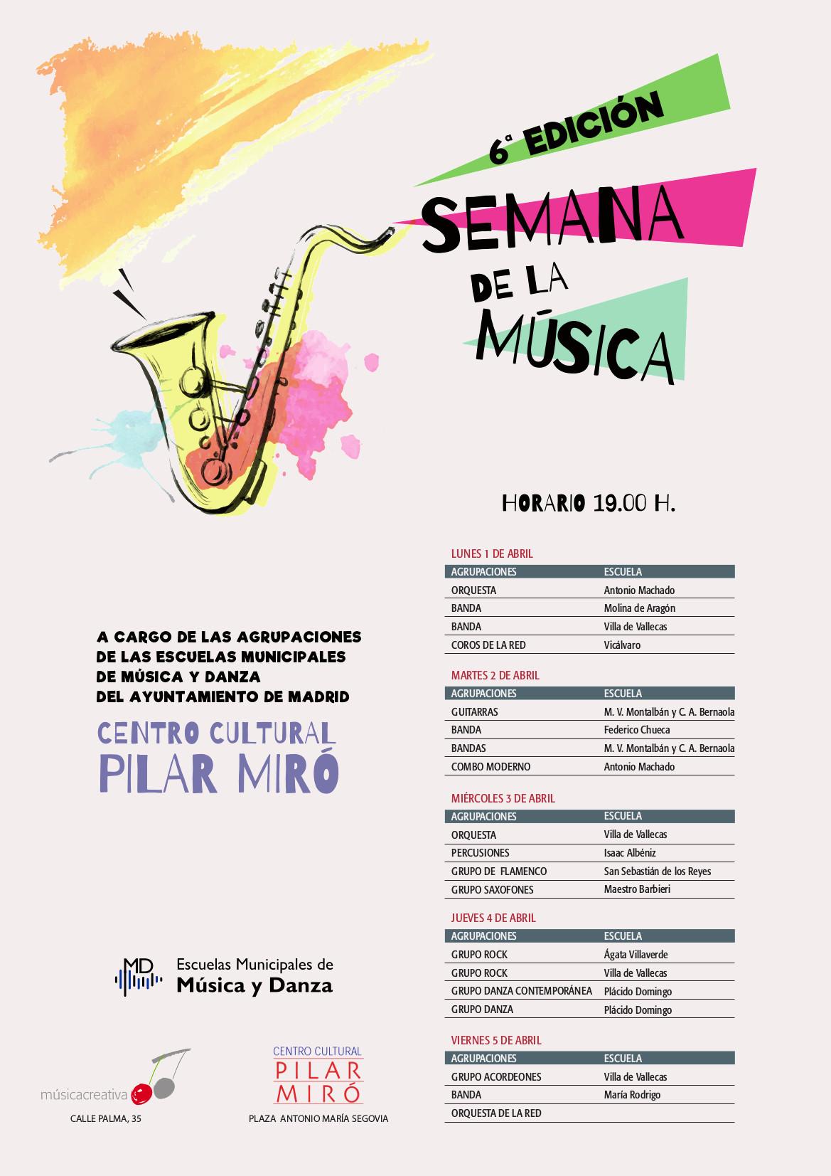 Semana de la muìsica Pilar Miro Vallecas