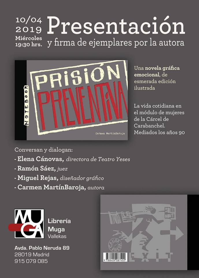 Prisión preventiva Librería Muga Vallecas