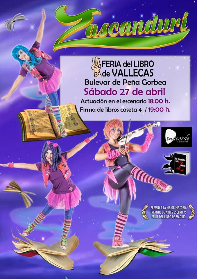 Los zascanduri Feria del libro 2019 Vallecas