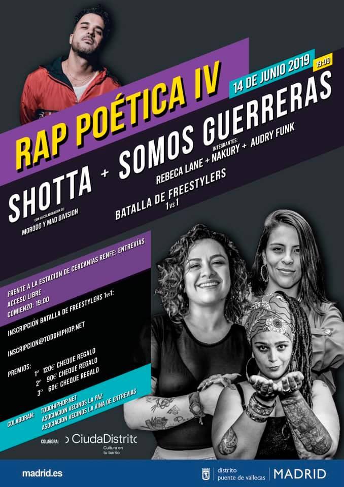 Rap poética Fiestas Entrevias Vallecas Somos guerreeras