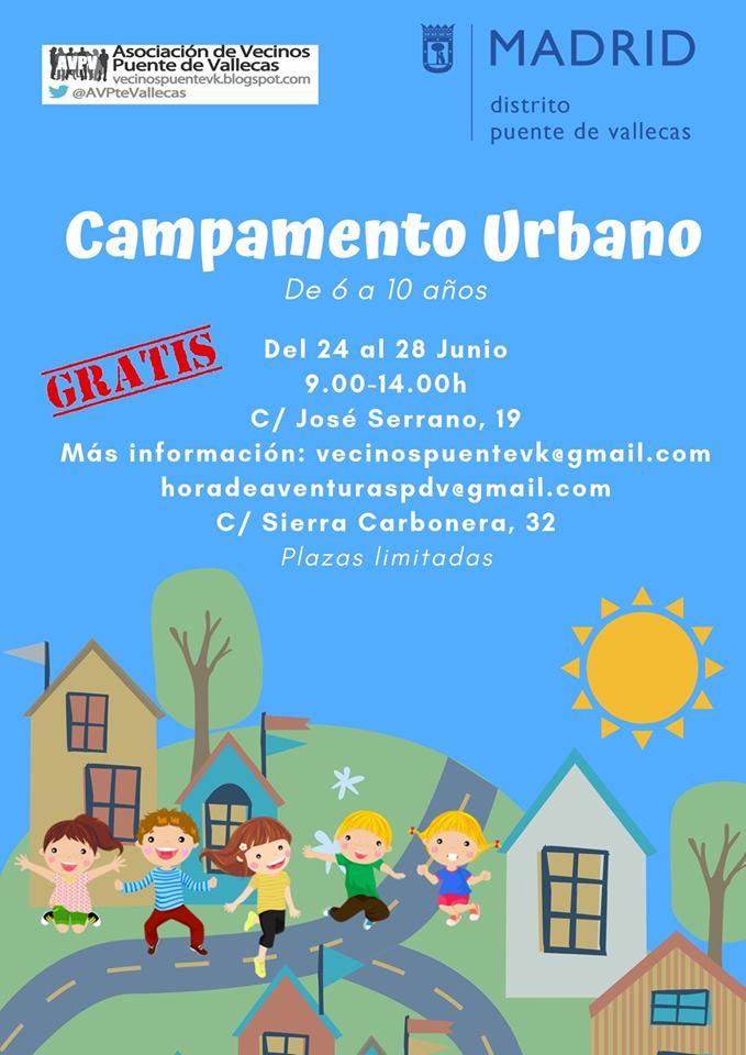 Campamento urbano vallecas