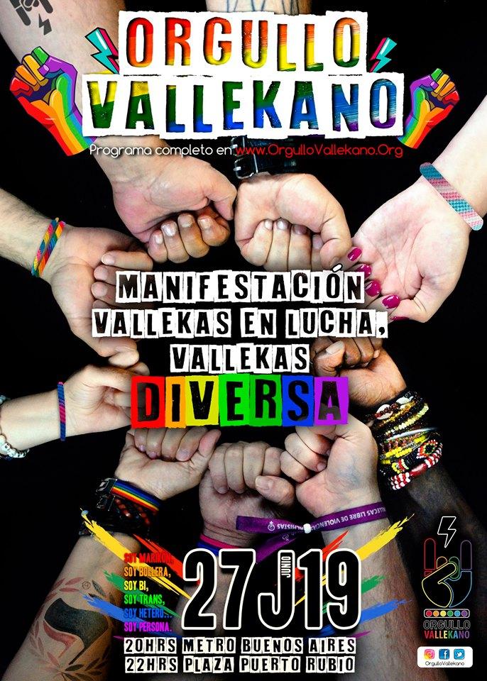 MAnifestacion Orgullo Vallekano 2019
