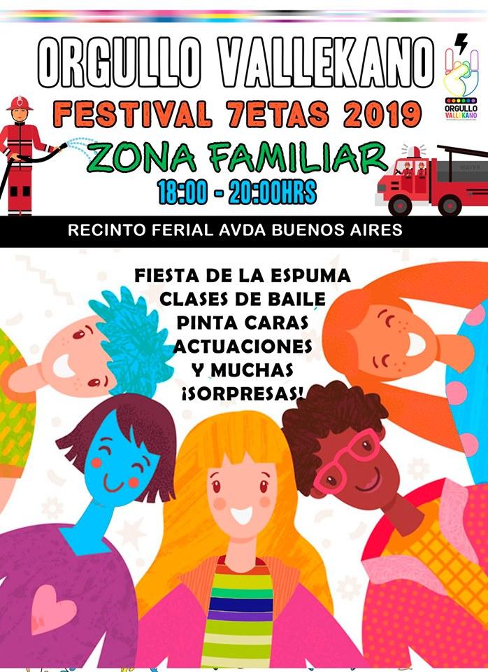 Zona Infantil 7etas Orgullo Vallekano 2019