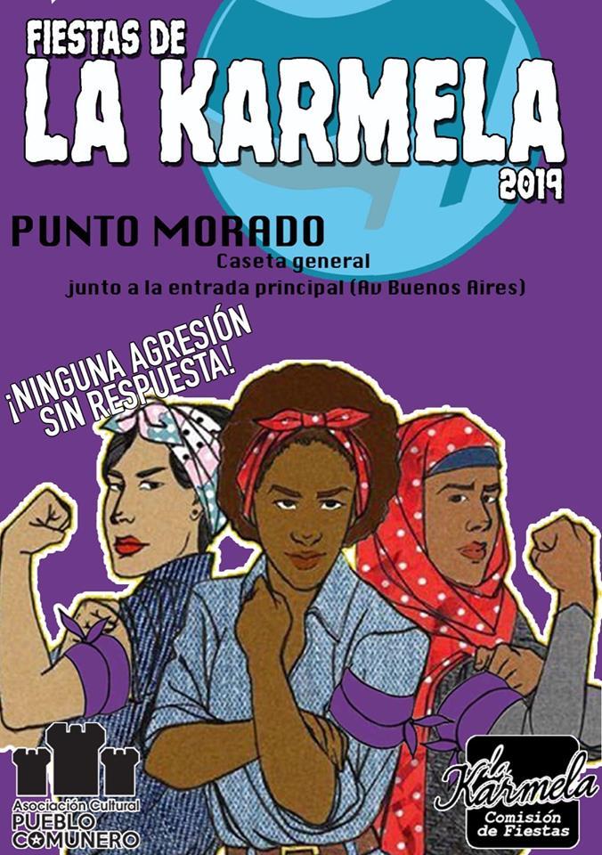 Punto morado La Karmela 2019 Vallecas