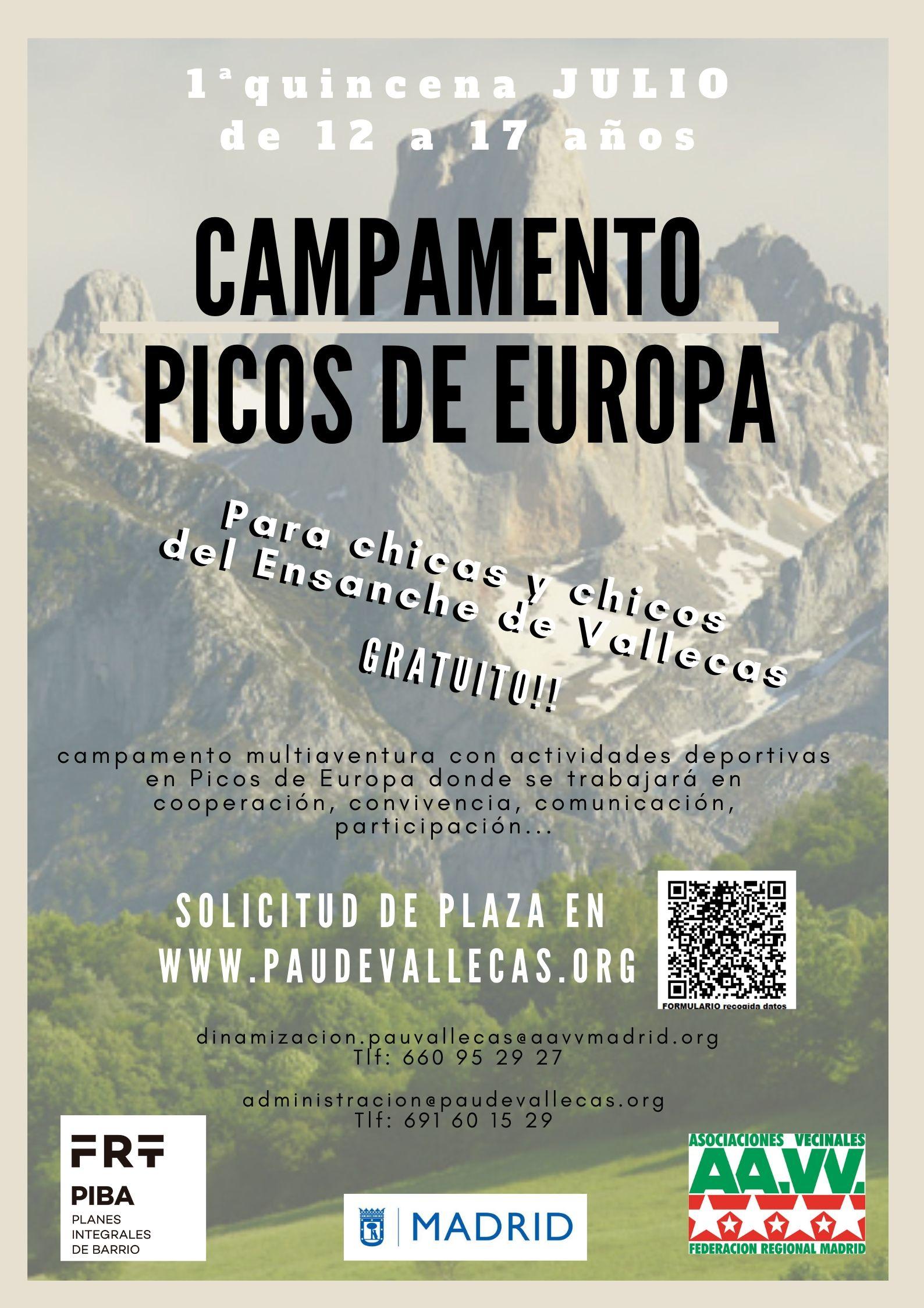 Campamento Vallecas PAU Ensanche de Vallecas