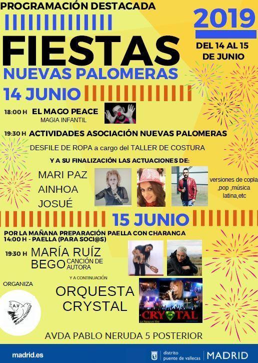 Fiestas Nuevas Palomeras 2019