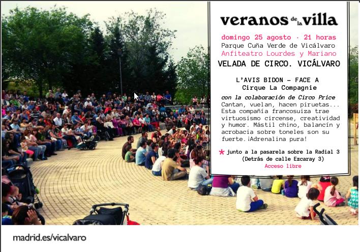 Velada Circo Vicalvaro Veranos de la villa