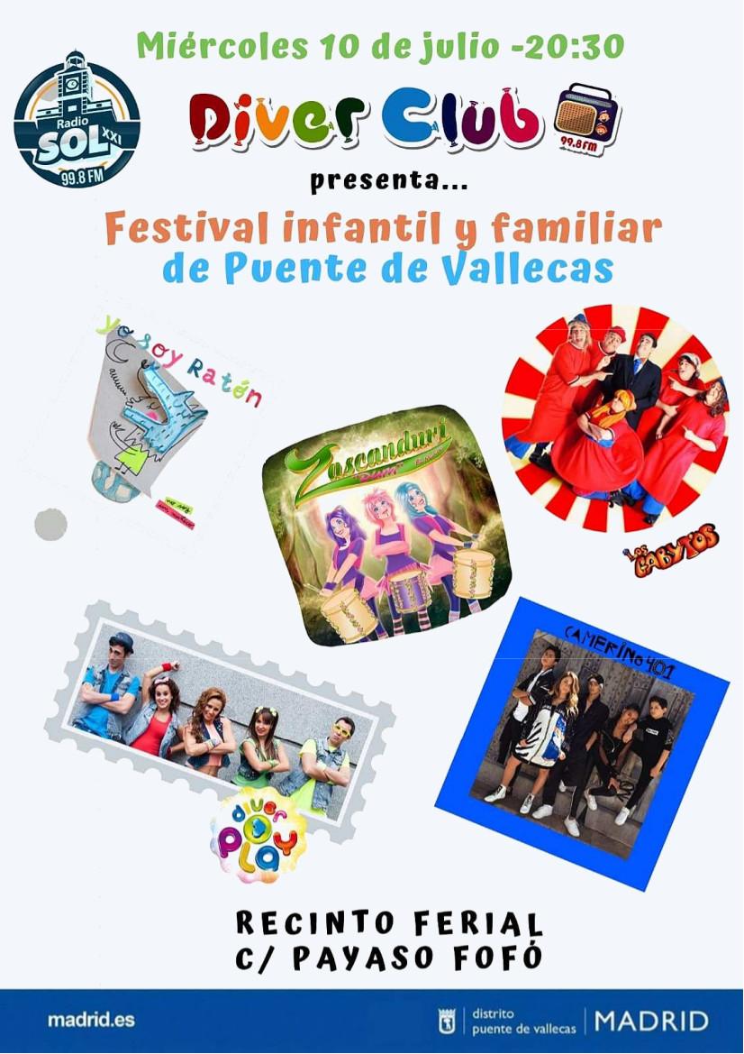 Fiestas del Carmen 2019 - Festival infantil y familiar Vallecas