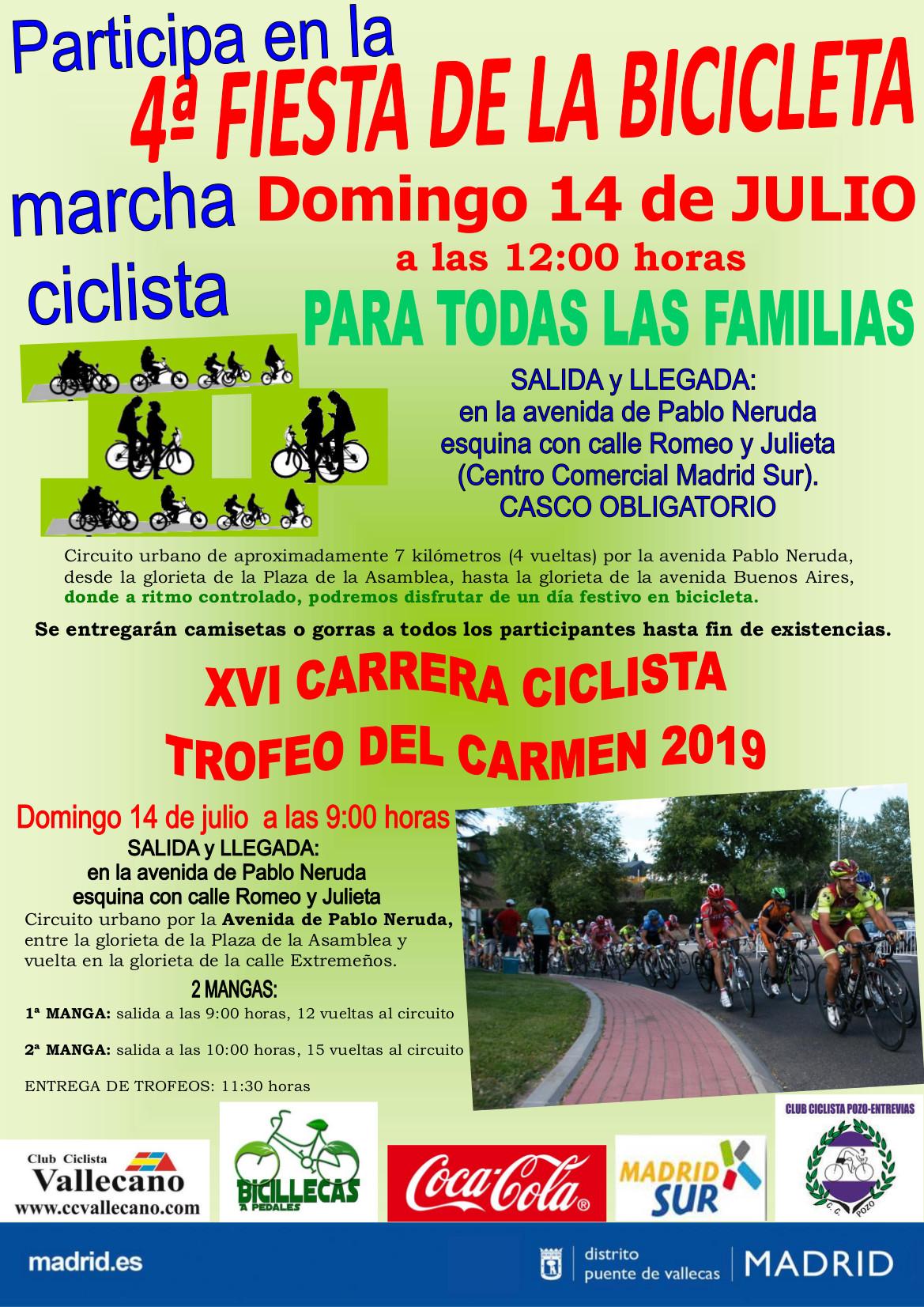 14´Julio Carrera Ciclista y Fiesta de la Bicicleta Vallecas 2019