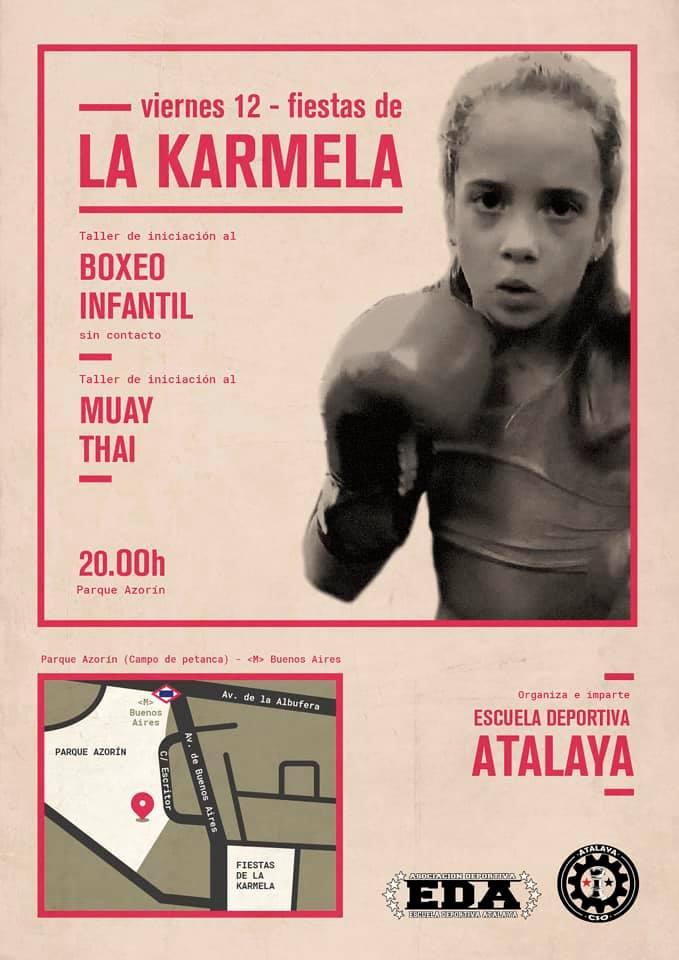 Taller boxeo infantil La Karmela 2019 Vallecas