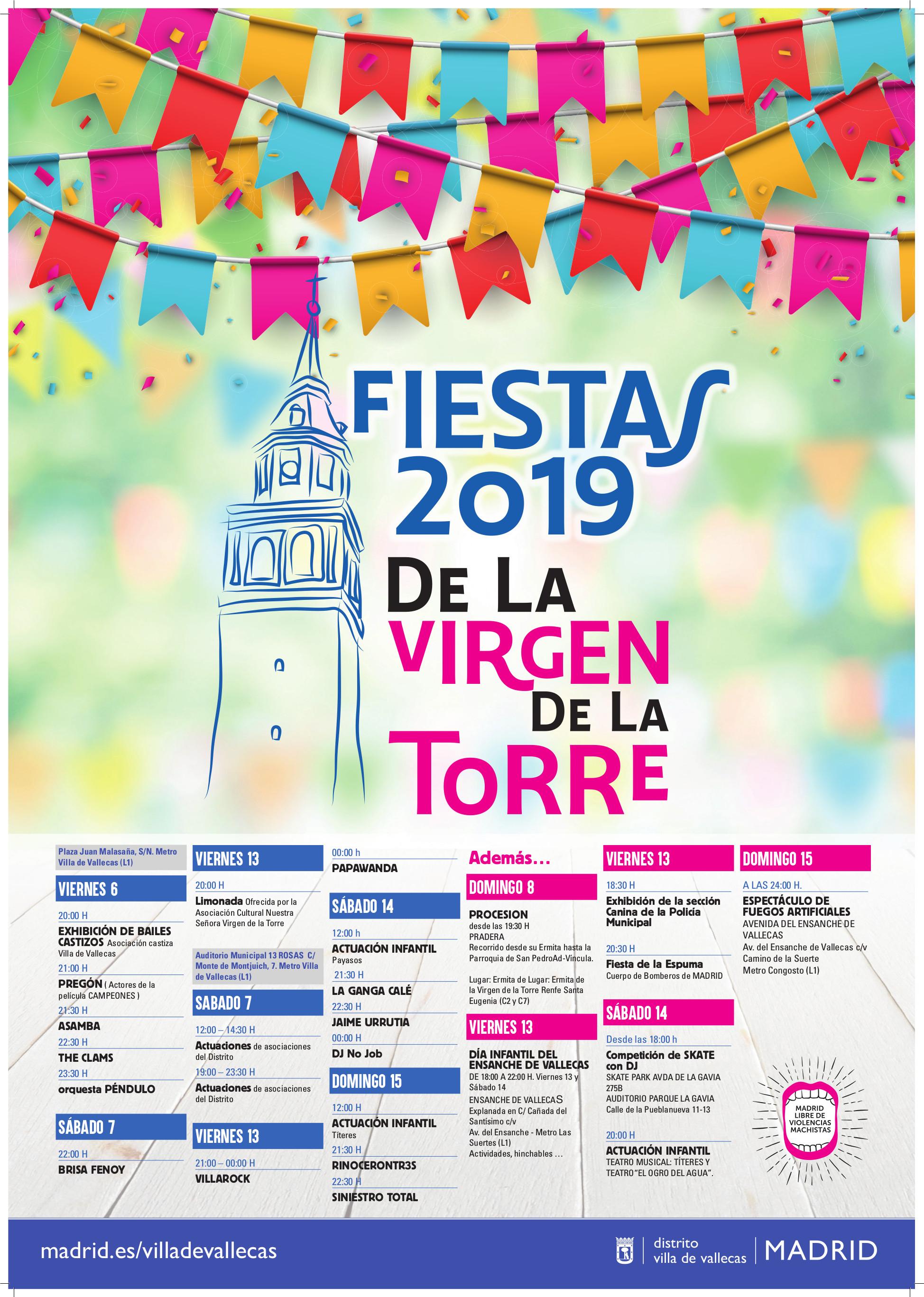 Fiestas de la Virgen de la Torre Vallecas 2019