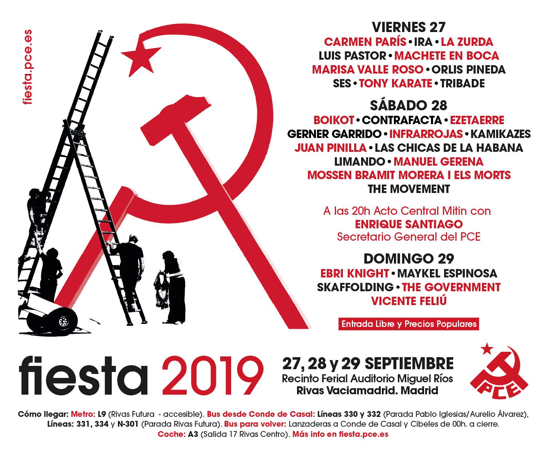 Fiestas PCE 2019