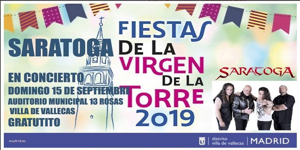 concierto Saratoga fiestas villa de vallecas 2019