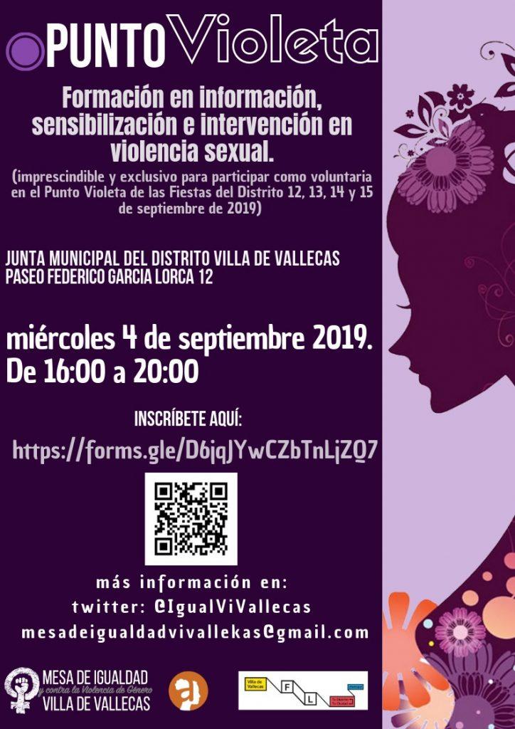 Punto Violeta Fiestas Virgen de la Torre 20109 Vallecas