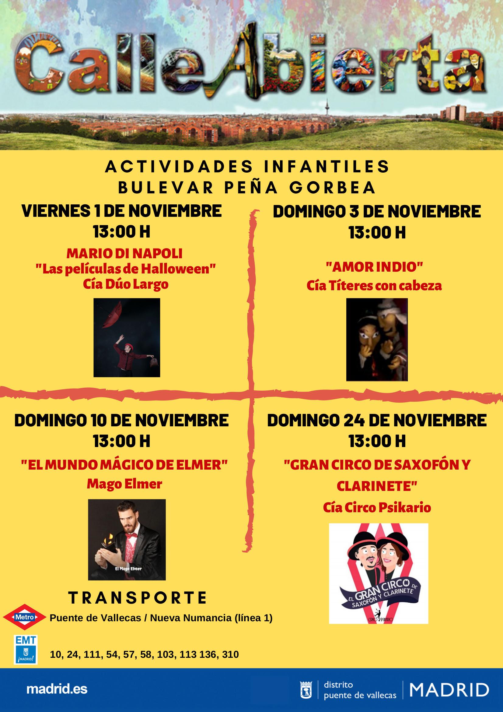 Noviembre - Calle Abierta Infantil - Bulevar de Peña Gorbea Vallecas
