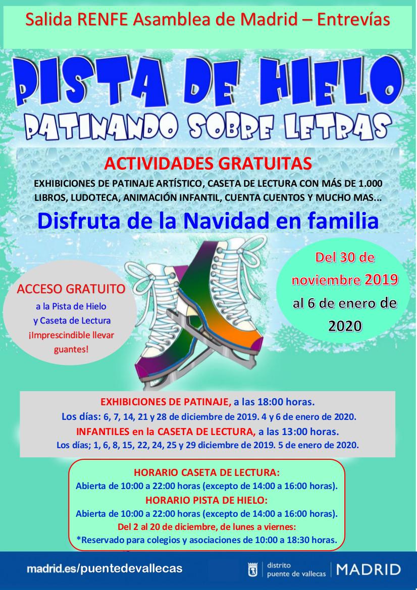 PISTA DE HIELO y CASETA DE LECTURA 2019 navidad vallecas