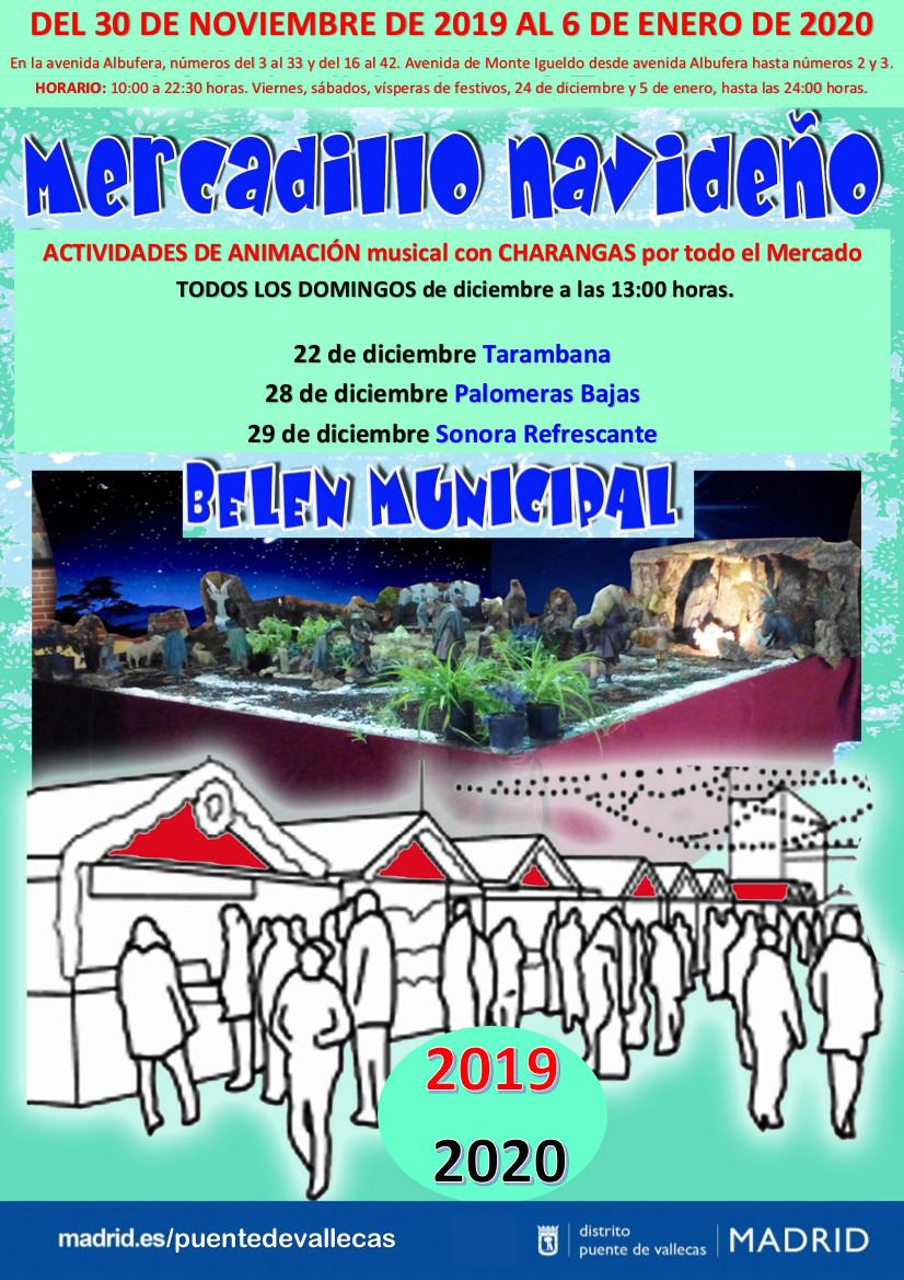 MERCADO DE NAVIDAD y BELÉN DEL DISTRITO Vallecas 2019