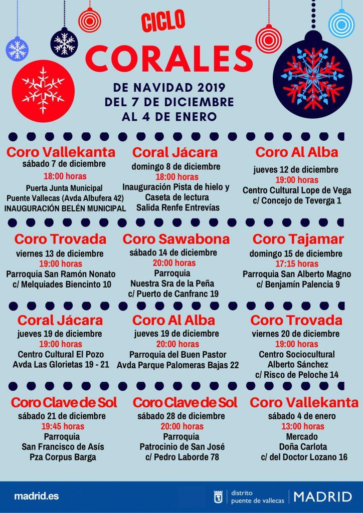 CICLO CORALES DE NAVIDAD 2019 Vallecas