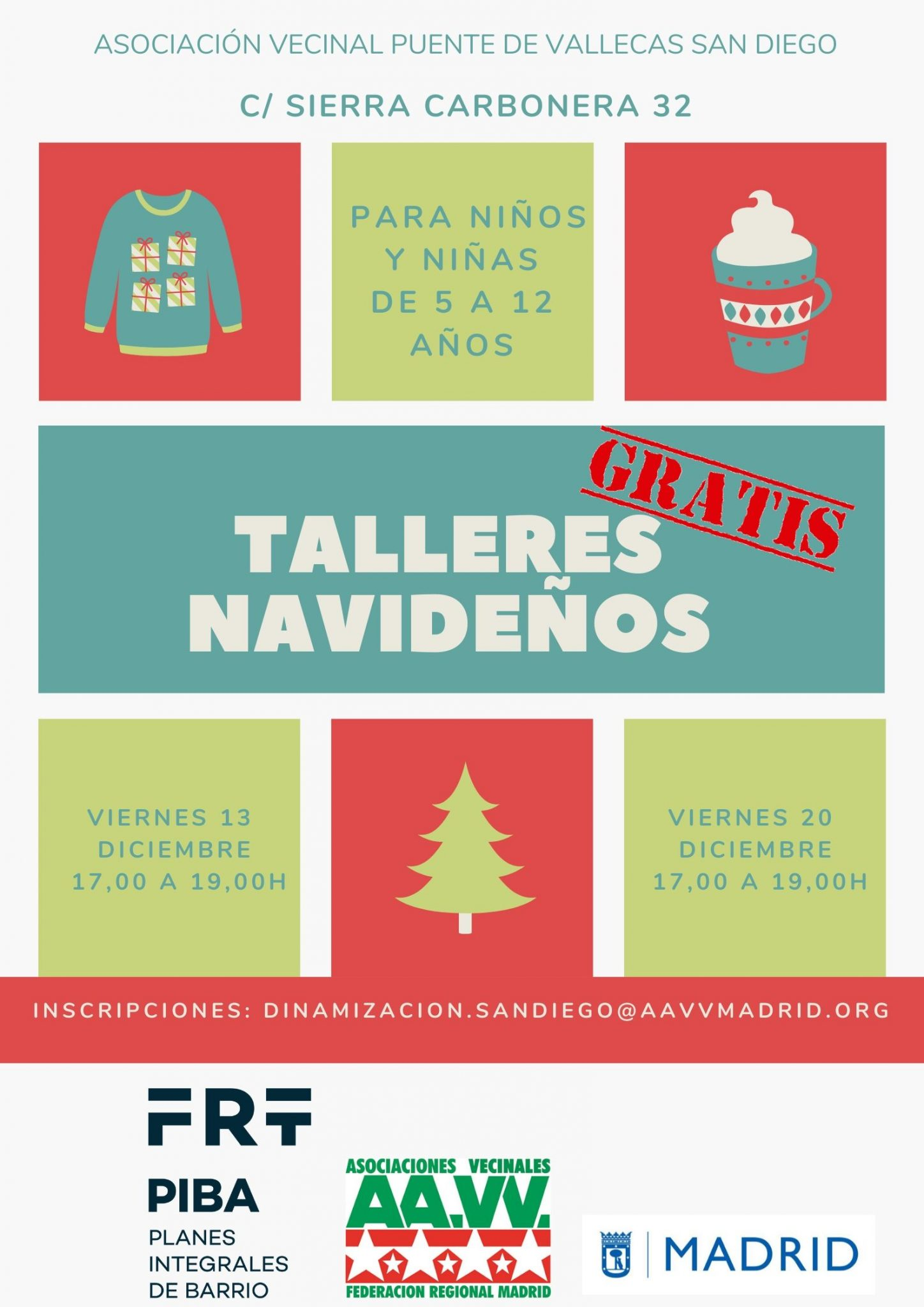 talleres infantiles navidad vallecas 2019