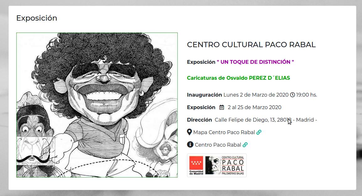 """Exposición """" UN TOQUE DE DISTINCIÓN """" Vallecas"""