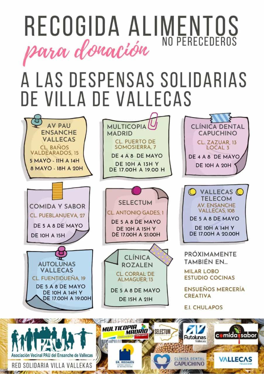 Recogida solidaria Villa de Vallecas