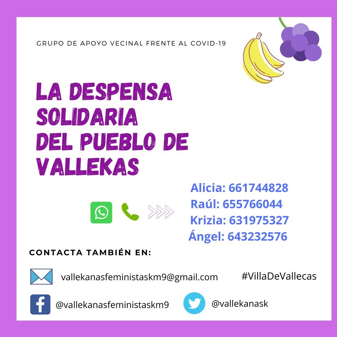 Despensa solidaria Vallecas