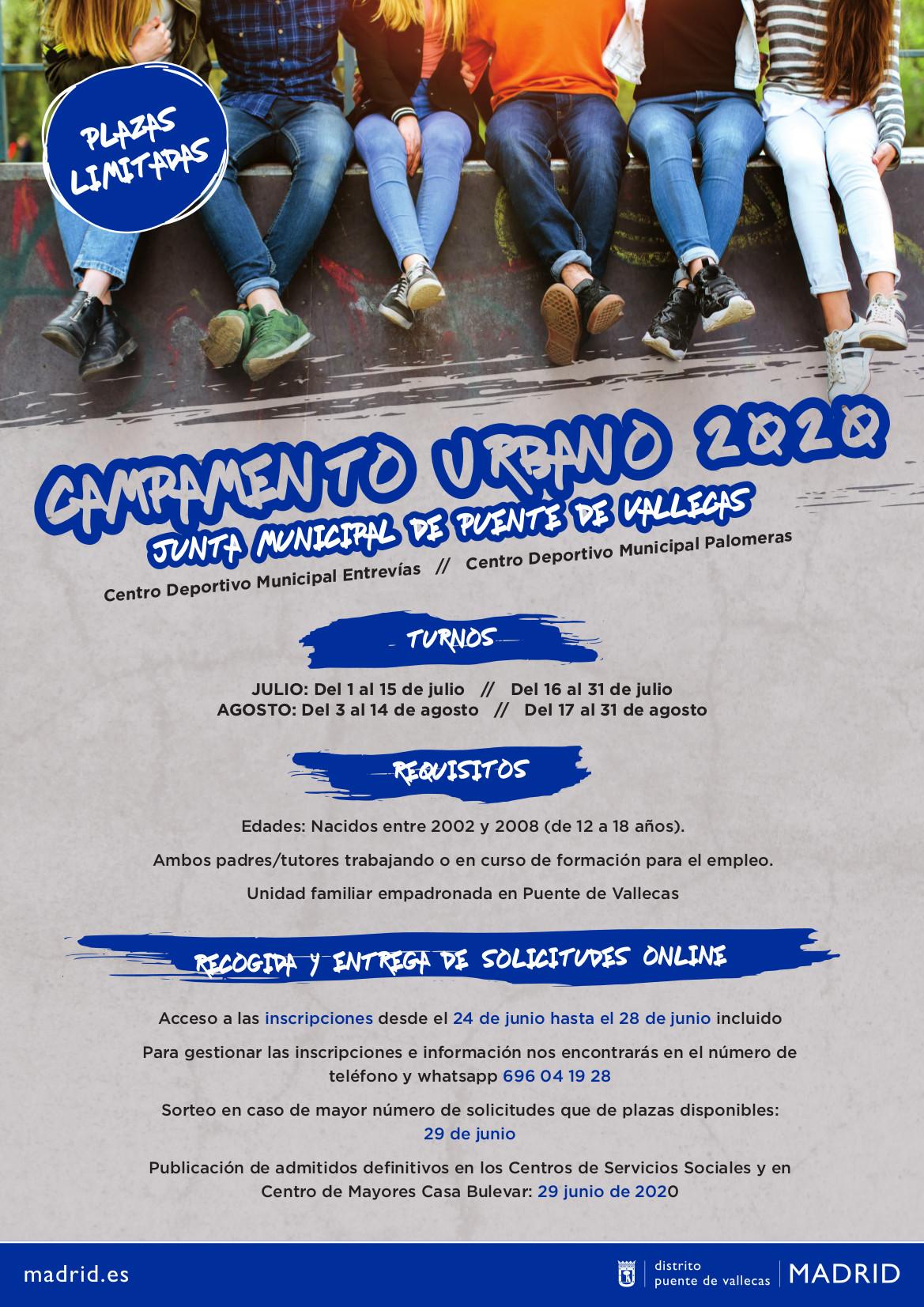 CARTEL campa urbano vallecas verano 2020