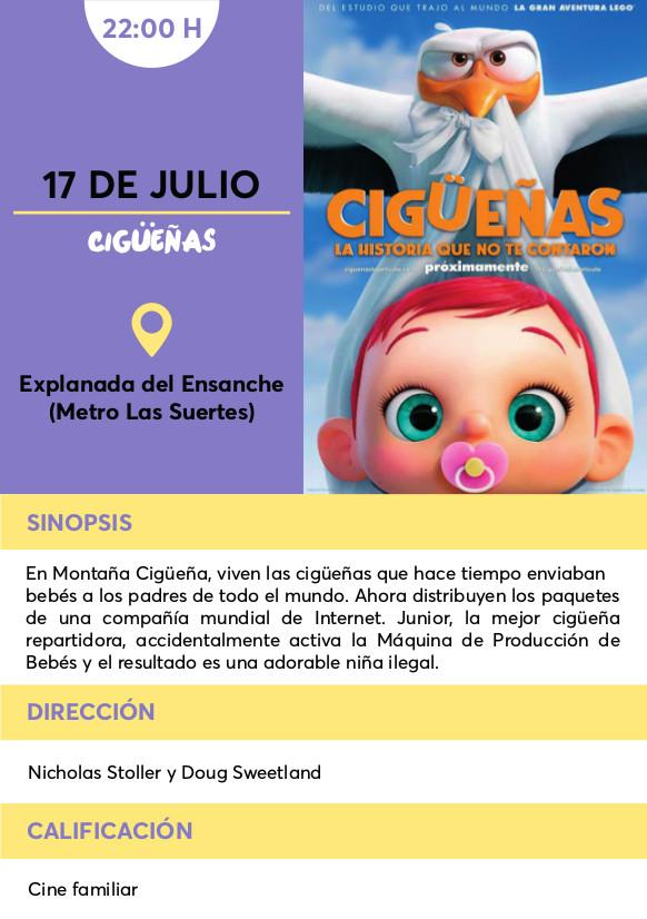 Cigueñas cine verano Vallecas