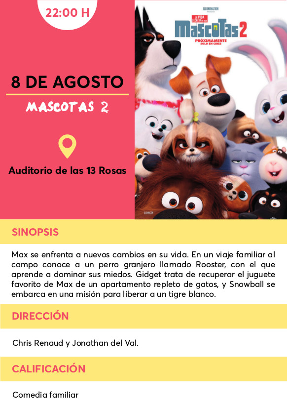 MAscotas2 cine verano Vallecas