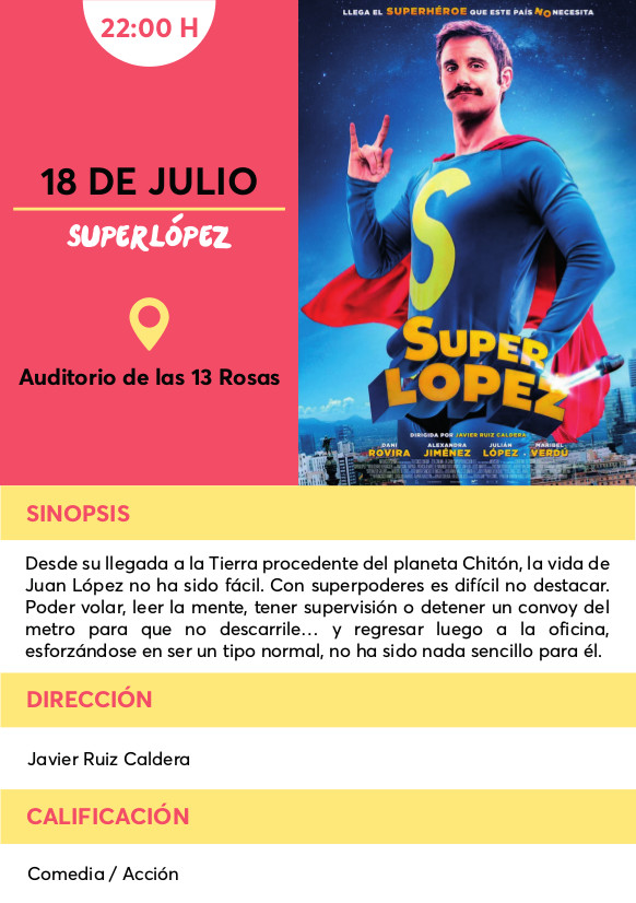 Superlopez cine verano Vallecas