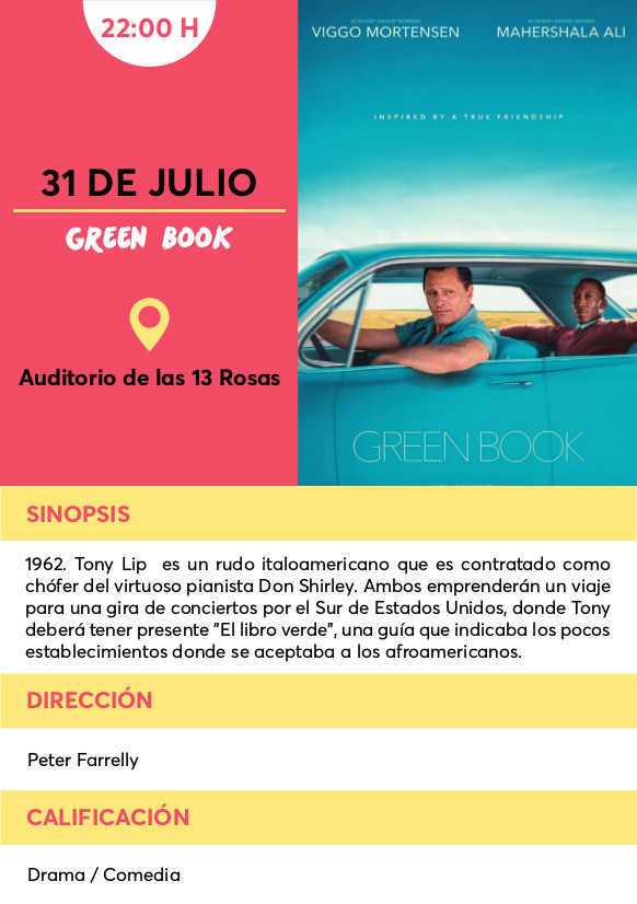 green book cine verano Vallecas
