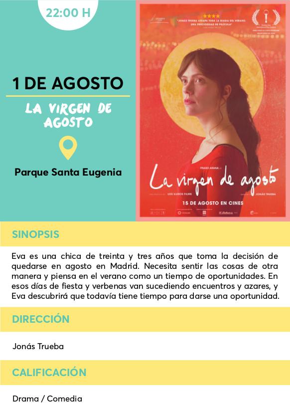 la virgen de Agosto cine verano Vallecas