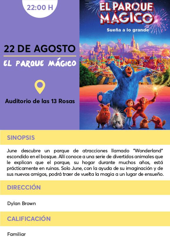 parque magico cine verano Vallecas